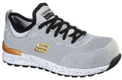 108033-GYBK Women's Skechers Work Bulklin - Balran Safety Toe